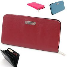 Womens Organizer Wallet Genuine Leather Clutch Purse Coin Purse By Alpine Swiss