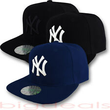 New York Yankees Cap NY Logo MLB Hat Fitted Embroidered On Field Game Basic NYC