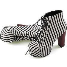 2014 Fashion Women's Lace Up Ankle High Heel Platform Party Dressy Shoes Boots