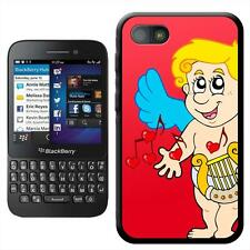 Cupid Playing Harp Making Love Music Hard Case For Blackberry Q5