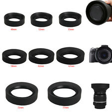 49/52/55/58/62/67/72/77mm Collapsible Rubber Lens Hood for Canon Nikon Camera