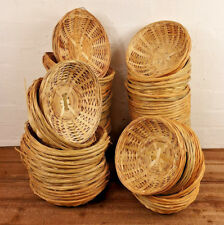 Natural Bamboo New Wicker Round Oval Storage Display Hamper Trays Bread Baskets