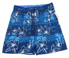 Newport Blue Beach Side Blue Floral Swim Trunks Boardshorts Mens NWT