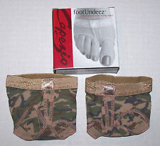 New Capezio FootUndeez Shoe Foot Underwear Camouflage Army Dance Nice Cute Adult