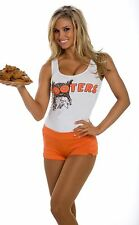 Sexy Hooters Bar Girl T-shirt Vest with or without Shorts Hot Pants Fancy Dress