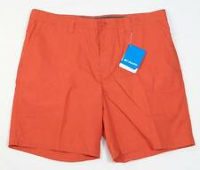 Columbia Sportswear Company Orange Flat Front Casual Shorts Mens NWT