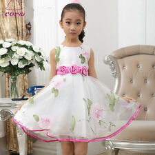 USHP5303 Hot Pink X'mas Wedding Party Flower Girls Dresses Sz 3,4,5,6,7,8,9,10 Y