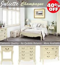 Shabby Chic Champagne Furniture, cream chest of drawers, dressing table, chests