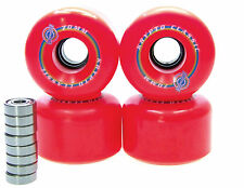 Kryptonics Classic 70mm / 78A Longboard wheels bearing ABEC 5 7 9 RED