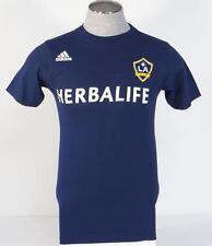 Adidas LA Galaxy Buddle 14 Dark Blue Short Sleeve Cotton Tee T Shirt Mens NWT