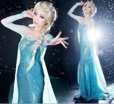 J716 Movies Frozen Snow Queen Elsa Cosplay Costume Dress tailor HANDMADE CUSTOM
