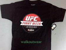 "UFC BRAND NEW ""FIGHT WEEK"" BLACK T-SHIRT - NWT - UFC STORE - OFFICIALLY LICENSED"
