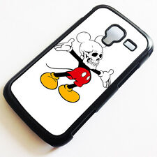 Cover for Samsung Galaxy Ace II 2 Mickey Mouse Skull Cool Funny Case k6015