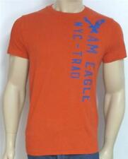 American Eagle Outfitters AEO NYC-TRAD Tee Mens Red Embroidered T-Shirt New NWT