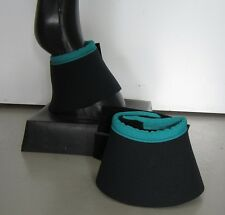 Horse Bell or overreach Boots Black & Jade green AUSTRALIAN MADE Protection