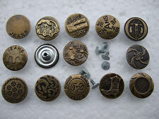 50 Sets of Pack Antique Bronze Jean No Sew Jeans Tack Buttons 20mm