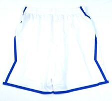 Nike Dri Fit White & Blue Basketball Athletic Shorts Womans NWT