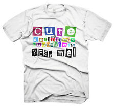 Mens Funny Saying T-Shirts-Cute.. Yes Me-Funny Tees For Men