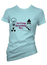 Womens Funny Sayings T Shirts-Save Energy-Ladies Funny Images Tees