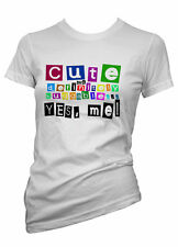 Womens Funny Sayings T Shirts-Cute.. Yes Me -Ladies Slogans Tees