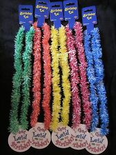 "FUNNY ""I GOT LEI'D on my BIRTHDAY"" COLOR LEI - YOUR CHOICE of COLOR PARTY (B857)"