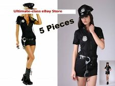 Sexy Cop Naughty Women Police Officer Costume M L XL 2XL Fast U.S. Shipping