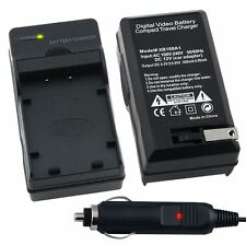 NP-20 Car Home Wall AC Charger Set NP-20 NP-20DBA For Casio Exilim Card / Zoom