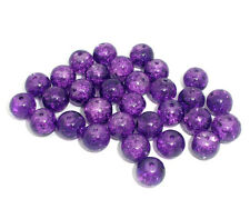 HELLO 100 Crackle Glass Round Beads 8mm Jewelry Making M0255
