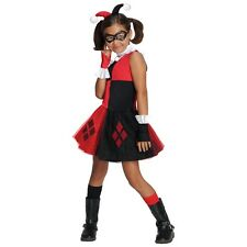 Harley Quinn Costume for Kids & Toddler Female Villain Halloween Fancy Dress