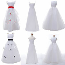 Princess Formal Pageant Flower Girl Dress Wedding Bridesmaid Kid Dress 2-12year