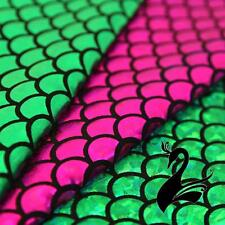 Spandex Lycra 4W Stretch Fabric - Mermaid Fish Scales (Price per 50cm) - Dance C