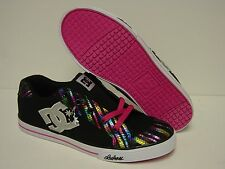 NEW Girls Kids Youth DC Shoes Chelsea Charm TX 303082B Black Pink Sneakers Shoes