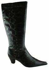 ORIZONTE ALMA WOMENS/LADIES LEATHER BOOTS/KNEE HIGH/SHOES/HEELS/CLEARANCE/SALE