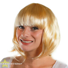 6 LADIES BLONDE BOB WIGS WITH FRINGE 1920S FLAPPER FANCY DRESS FASHION BABE HAIR