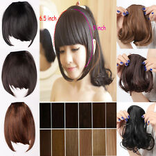 Clip on Front short Neat Bangs Fringe clip in Hair Extensions women favored hair