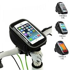 Nice Bike Bicycle PU Handlebar Bag Touch Case For iphone 4/5/5S Samsung S3/4 HTC