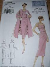 1954 DESIGN - VOGUE #V8687 - LADIES STUNNING WIGGLE DRESS & COAT PATTERN  8-22uc
