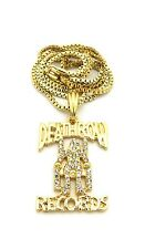 """NEW ICED OUT DEATH ROW RECORDS PENDANT &24"""" BOX CHAIN HIP HOP NECKLACE - XMP23BX"""