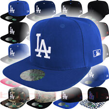 Los Angeles Dodgers Cap Snap Back MLB LA Logo Hat Embroidered On Field Game Home