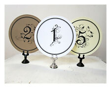 Round Wedding Table Numbers, Elegant  Ivory, White, Kraft, Table Numbers