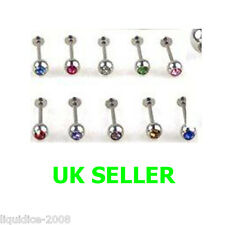COLOURFUL PIERCING EYEBROW EAR NOSE LIP TONGUE BELLY NAVAL BAR JEWELLERY NO 11