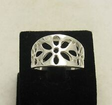 R000897 STYLISH STERLING SILVER RING SOLID 925 FLOWER