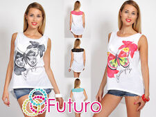 ♥ Unique High Quality Vest Top Butterfly Motive ♥ Crew Neck Sizes 8-12 FC103
