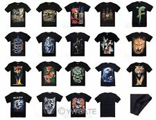 Punk Style Mens Short Sleeves T Shirts 3D Animal Prints Summer Cotton Tees Tops
