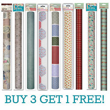 1 Large Roll Self-Adhesive Fabric Craft Texture Paper - DIFF DESIGNS 62x46