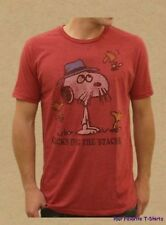 Peanuts Snoopy Chicks Dig The Stache Junk Food Licensed Adult Shirt S-XXL