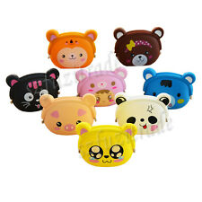 Rubber Coin Bag Silicone Pouch Purse Wallet Glasses Cell change Cosmetic Case UK