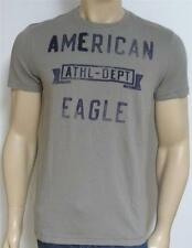 American Eagle Outfitters AEO Tee Mens Gray Athl-Dept Applique T-Shirt New NWT