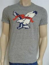 American Eagle Outfitters AEO 7-AE Mens Gray Applique Football T-Shirt New NWT