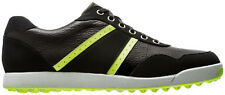 FootJoy Contour Casual Spikeless Golf Shoes Black/Lime Mens Closeout 54397 New